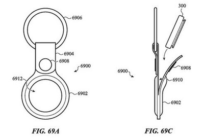 airtag patent keychain
