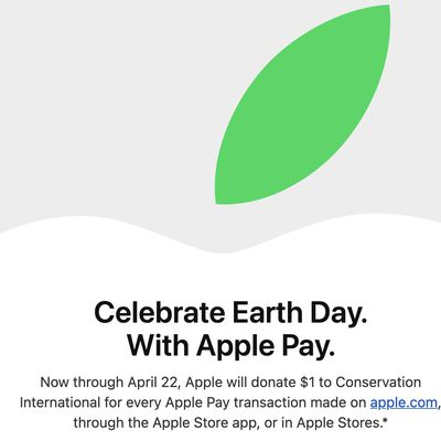 apple earth day apple pay promo