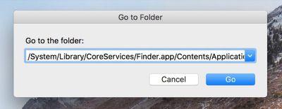 Finder go to folder dialog