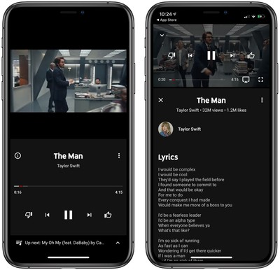 Youtube Music Ios App Gains Song Lyrics Feature Macrumors