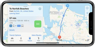 norfolk apple maps