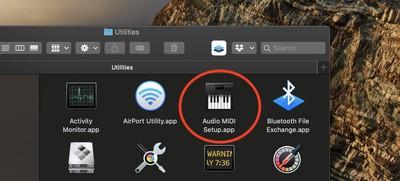 audio midi setup app