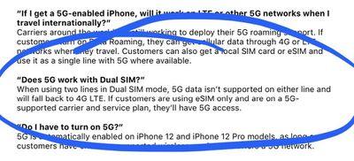 5G dual sim incompatible