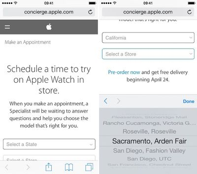 Apple Watch Try-on iOS