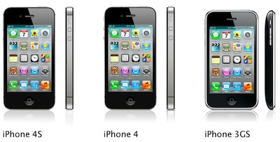 iphone 4s 4 3gs lineup