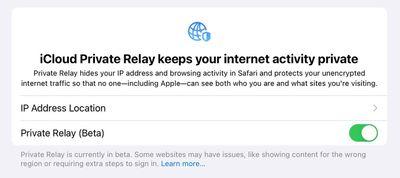 icloud private relay beta