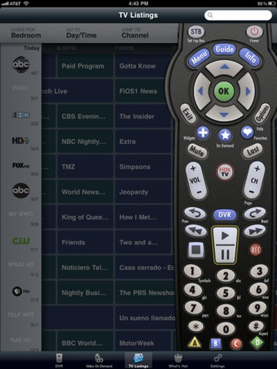 125739 verizon fios remote