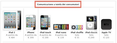 italian apple store applecare notice
