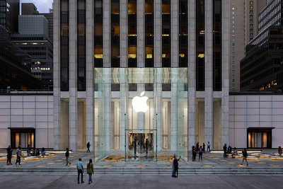Apple Store fifth avenue new york redesign exterior 091919