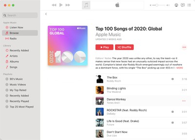 top 100 apple music songs