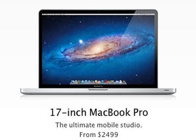macbook pro 17 mobile studio