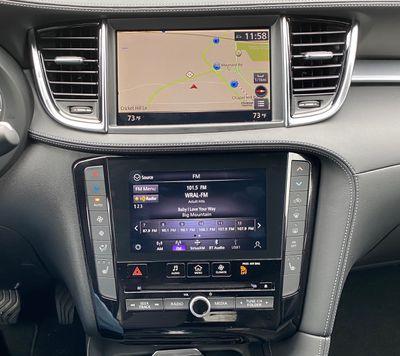infiniti qx50 map radio