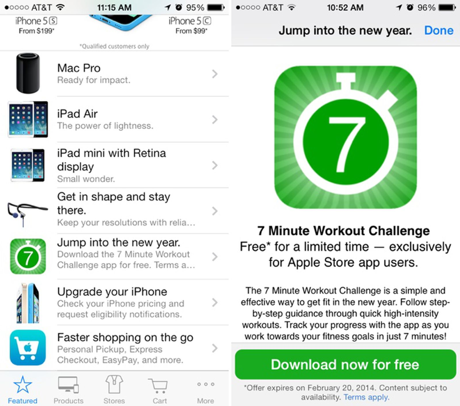 7 minute workout app free download
