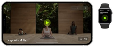 apple fitness plus start workout