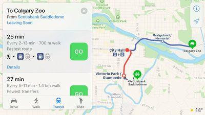 apple maps calgary transit 1