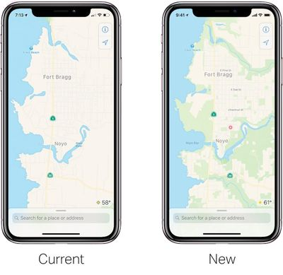 apple maps old new
