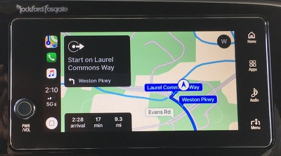 outlander carplay maps
