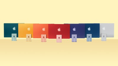 iMac M1 Raindow Feature Spread out