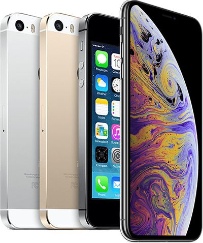 iphone xs max iphone 5s