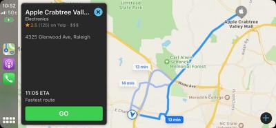 audi a7 carplay maps