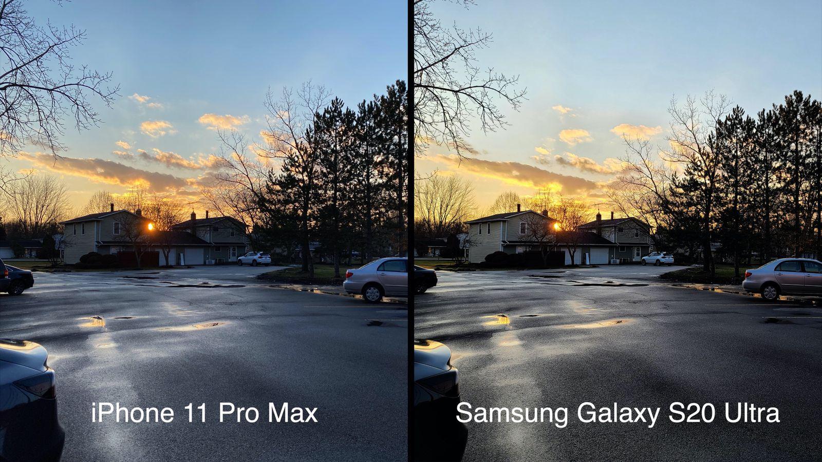 Camera Comparison Iphone 11 Pro Max Vs Samsung Galaxy S20 Ultra Macrumors