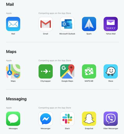 apple apps vs third party apps